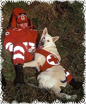 Rettungshund mit Hundeführer